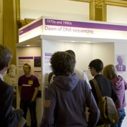 Beyond the Genome stand at the Royal Society Summer Exhibition