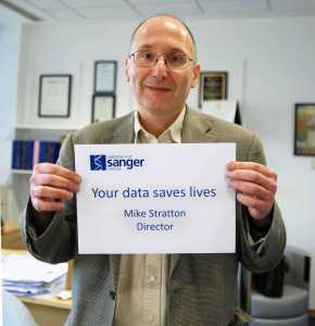 Professor Mike Stratton supporting the Data Saves Lives Campaign