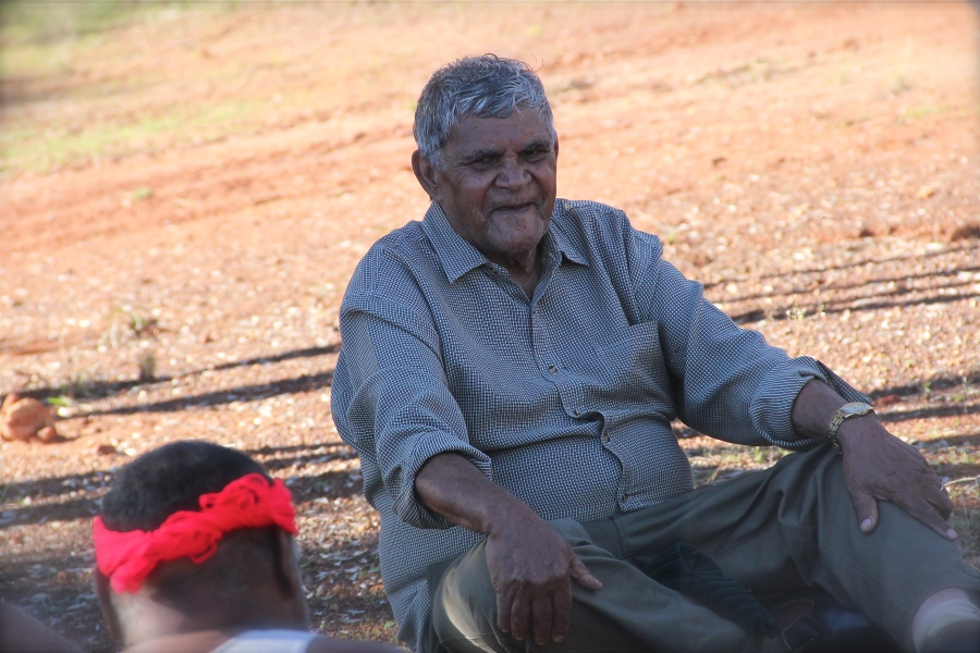 Mr. Aubrey Lynch, elder from the Wongatha Aboriginal language group, who participated in the study